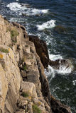 Rotsachtige kust. Bornholms, Denemarken. Royalty-vrije Stock Afbeeldingen