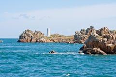 Rotsachtige kust in Bretagne, Frankrijk Royalty-vrije Stock Afbeelding