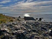 Rotsachtige kust Estland royalty-vrije stock afbeelding