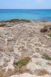 Rotsachtige kust Mallorca Royalty-vrije Stock Afbeeldingen
