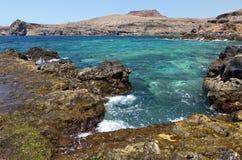Rotsachtige kust in Puerto DE las Nieves, Gran Canaria royalty-vrije stock fotografie
