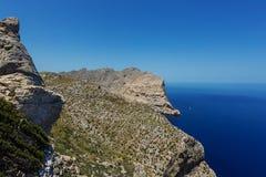 Rotsachtige kust van GLB DE Formentor op het eiland van Mallorca royalty-vrije stock afbeelding