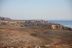 Rotsachtige kust van Malta Stock Foto