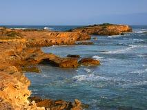 Rotsachtige kust in Victoria, Australië stock afbeelding