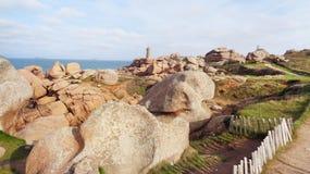Rotsachtige kustkust Stock Foto