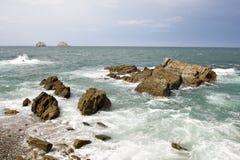 Rotsachtige kustlijn royalty-vrije stock foto's