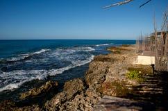 Rotsachtige kustlijn Stock Afbeeldingen