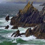 Rotsachtige kustlijn bij Slea-Hoofd Royalty-vrije Stock Fotografie