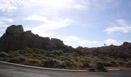 Rotsachtige landschap en struik dichtbij Yallingup-Strand Westelijk Australië Stock Afbeeldingen