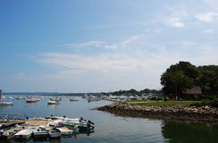 Rotsachtige Overzeese kust in Plymouth, Massachusetts royalty-vrije stock foto's