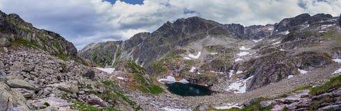 Rotsachtige pieken in de Tatra-Bergen Stock Fotografie