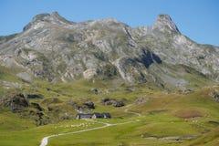 Rotsachtige rand van de Pyreneeën Royalty-vrije Stock Foto