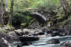 Rotsachtige rivierbrug Stock Afbeelding