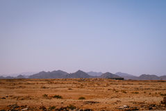 Rotsachtige woestijn, het Sinai Schiereiland, Egypte Stock Fotografie