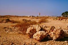 Rotsachtige woestijn, het Sinai Schiereiland, Egypte Stock Afbeeldingen