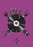 Rotsaffiche met het breken van vinylverslag royalty-vrije illustratie