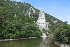Rotsbeeldhouwwerk in berg Royalty-vrije Stock Fotografie