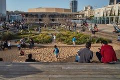 Rotschild st Tel Aviv - 04 Marzec 2017: Habima kwadrat przy cen Zdjęcie Stock