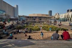 Rotschild st Tel Aviv - 04 Marzec 2017: Habima kwadrat przy cen Fotografia Stock