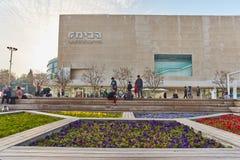 Rotschild st Tel Aviv - 04 Marzec 2017: Habima kwadrat przy cen Zdjęcie Royalty Free