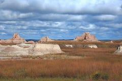Rotsdagzomende aardlagen de Zuid- van Dakota Badlands Stock Foto's