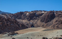Rotsen, bergen en zand Royalty-vrije Stock Foto's