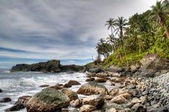 Rotsen bij de kust van Capurgana Royalty-vrije Stock Fotografie