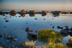 Rotsen bij zonsondergang Royalty-vrije Stock Fotografie