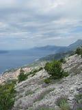 Rotsen Biokovo boven zeeniveau Royalty-vrije Stock Fotografie