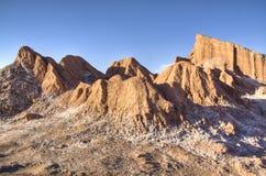 Rotsen in de Atacama-woestijn Stock Fotografie