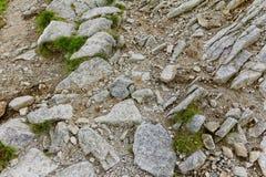Rotsen in de bergen Royalty-vrije Stock Afbeeldingen