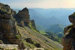 Rotsen in de Kaukasus Royalty-vrije Stock Foto