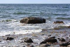 Rotsen in de Oostzee Stock Foto's