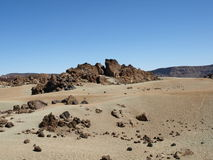 Rotsen in de woestijn Royalty-vrije Stock Foto