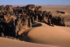 Rotsen in de woestijn Royalty-vrije Stock Foto's