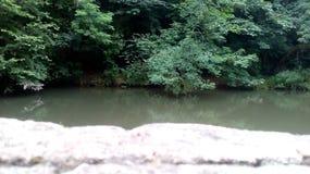 Rotsen door een rivier stock afbeelding