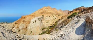 Rotsen Ein Gedi in Israël dichtbij Dode Overzees Royalty-vrije Stock Afbeelding