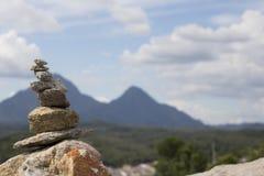 Rotsen en berg Royalty-vrije Stock Foto's
