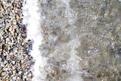 Rotsen en dakspanen, water en mariene ogenblikken 4 Royalty-vrije Stock Fotografie