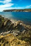 Rotsen en klip op Costa Brava Bay Royalty-vrije Stock Foto's