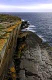Rotsen en klippen, Caithness, Noord-Schotland stock afbeelding