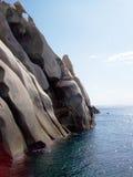 Rotsen en overzees in Sardinige Royalty-vrije Stock Afbeeldingen