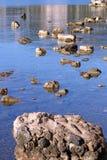 Rotsen in het overzeese eiland van Korfu Royalty-vrije Stock Foto's