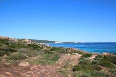 Rotsen in Injidup Westelijk Australië Royalty-vrije Stock Fotografie
