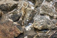 Rotsen op de kust voor achtergrond Royalty-vrije Stock Foto's