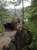 Rotsen op een berg Royalty-vrije Stock Foto's