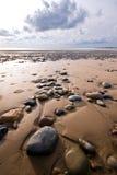 Rotsen op het strand Royalty-vrije Stock Foto