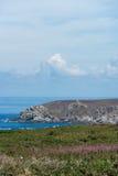 Rotsen in Pointe du Raz royalty-vrije stock foto's
