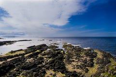 Rotsen in Portballintrae Noord-Ierland Royalty-vrije Stock Afbeeldingen