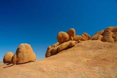 Rotsen in Spitzkoppe (Namibië) Stock Fotografie